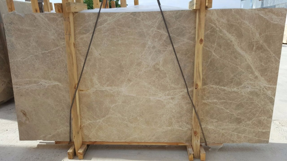LIGHT BROWN NATURAL STONE MARBLE EMPERADOR LIGHT , BEIGE SPIDER
