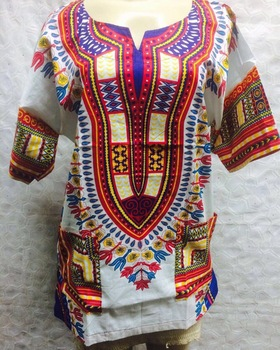 Fashion African Traditional Clothing Dashiki African Shirt Dress for Women