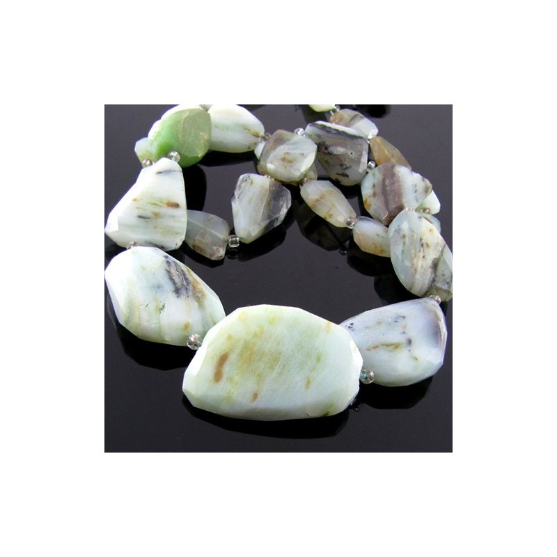 Opal Faceted-Flat Nuggets Shape Bead Strands