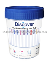 Discover 12 Panel Cup with Adulterants (Case of 25)- AMP/COC/OXY/THC/PCP/MDMA/OPI/BZO/BAR/MTD/TCA/BUP (OX/S.G./PH)