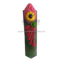 Green Aventurine Special Design Tibetan Healing Flat Pencil Pendant : Top Seller Tibetan Pendants India