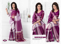 Distinctive charm indian cotton saree for casual wear