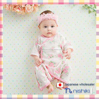 2016 new products Japanese wholesale cute baby underwear flower pattern for girl infant wear newborn garment 2pcs set