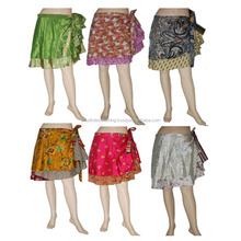 Wholesale Custom Print Ladies Fashion silk Mini Skirt