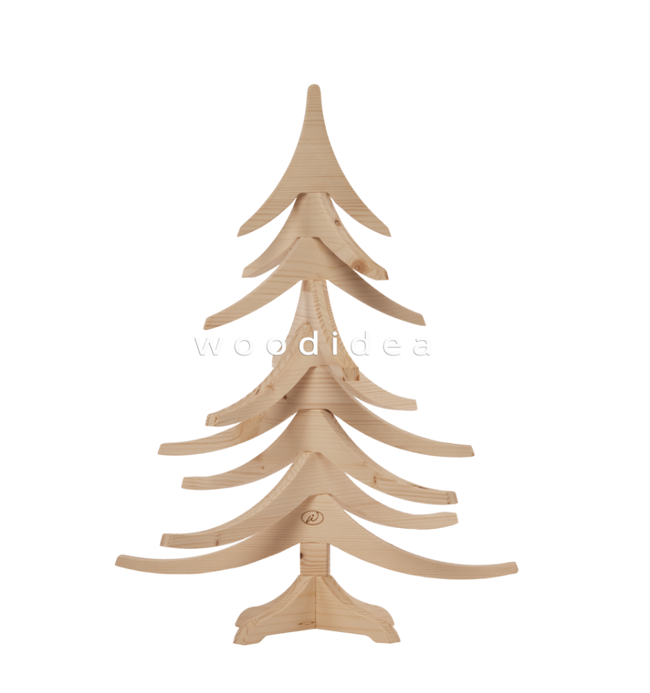 ALBERT 50 cm Made in Italy Wooden Christmas Tree - Christmas Decoration