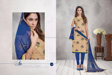 Deepam Vol 2 Chanderi 61001 Series embroidery work salwar kameez