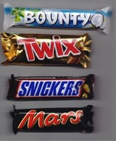 Snickers Kitkat Bounty Twix Nutella Chocolate Mars