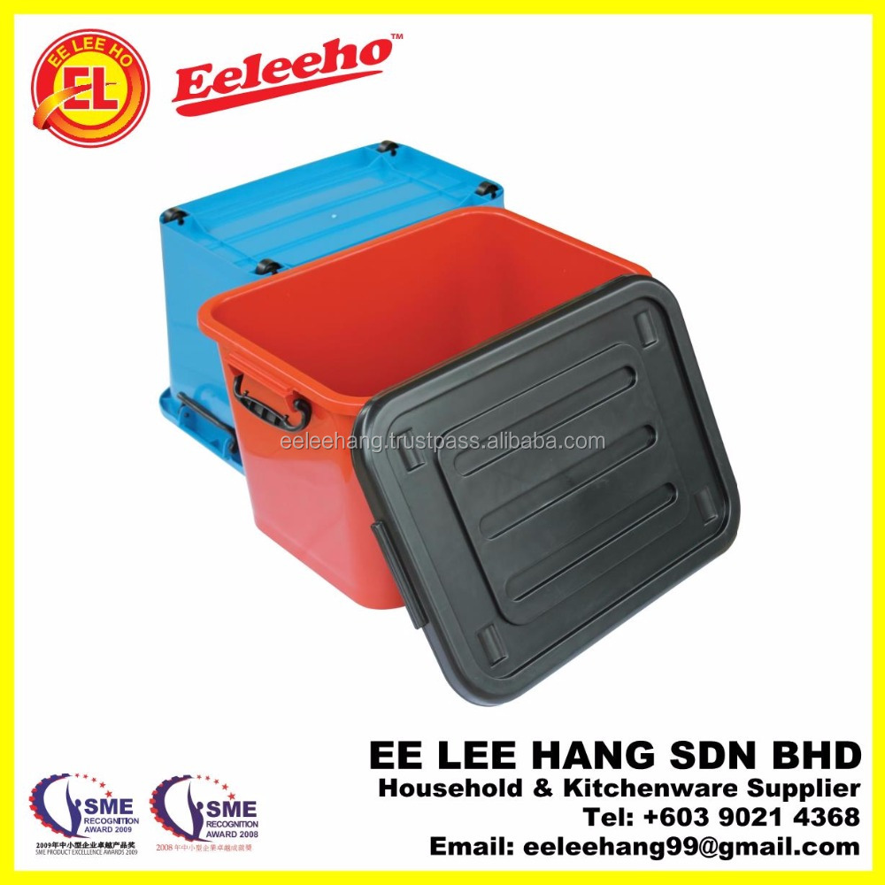 Plastic Stackable Multi Storage Box WIth Cover Lid Wheels and Lockable