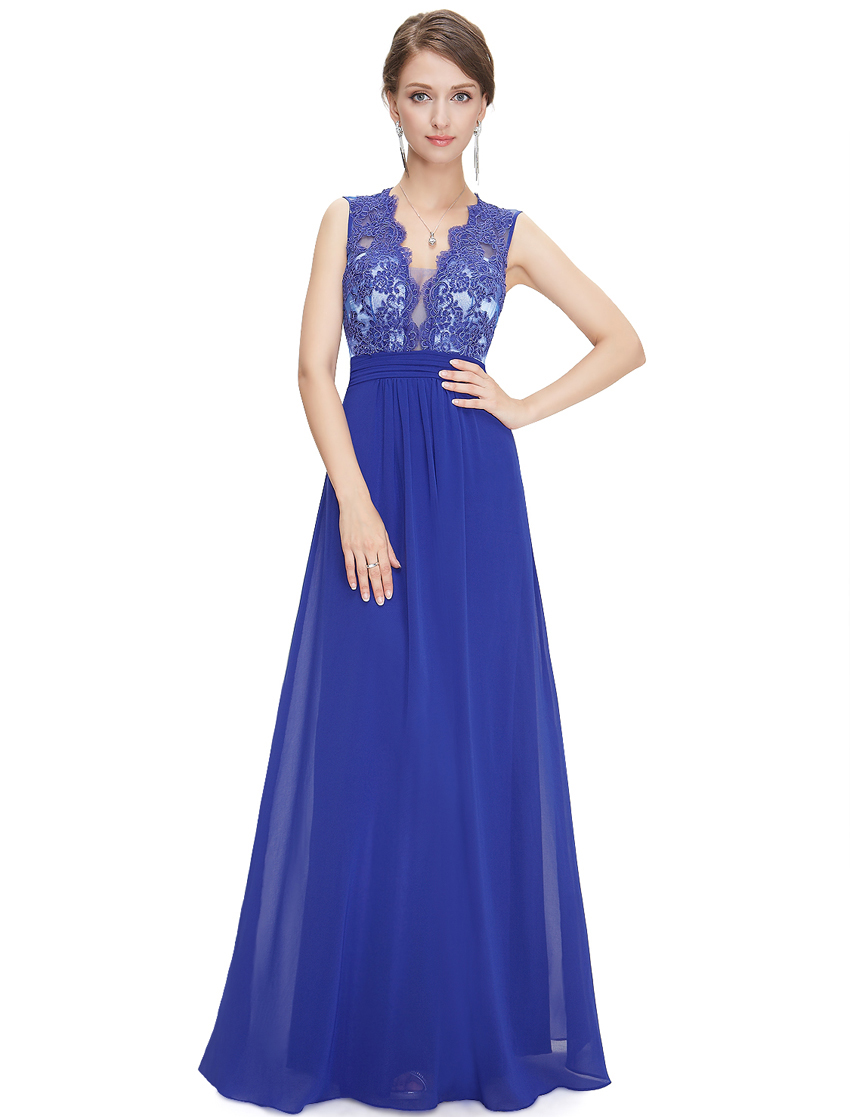 Women's Elegant Sexy V-neck Long Prom Party Dress HE08415 Mix Wholesale