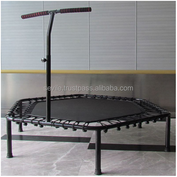 Trampoline with T shape handles