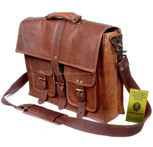 LEATHER SCHOOL/ OFFICE/LAPTOP BAG