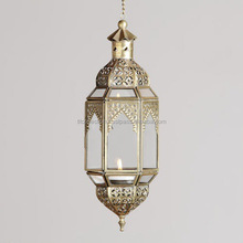 Metal Hanging Moroccan Lantern,Moroccan Filigree Candle Lantern, Decorative Candle Holder