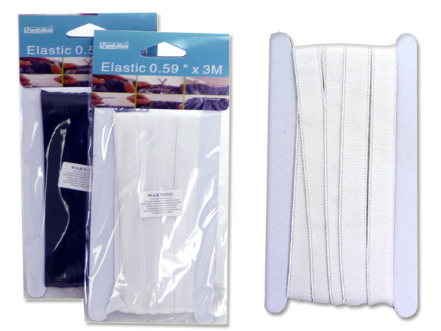 "ELASTIC 0.59""X3M WHITE & BLACK, #99981"