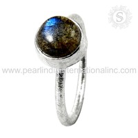 famous Labradorite Natural Gemstone Ring Indian Silver Jewelry 925 Sterling Silver Jewelry Manufacturer