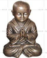 Small Shaolin Praying Statue GRC/Terracotta/Stone