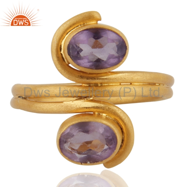 925 Sterling Silver Amethyst Rings,Gemstone Hallmarked Sterling Silver Rings Jewelry,Gold Plated Amethyst Ring