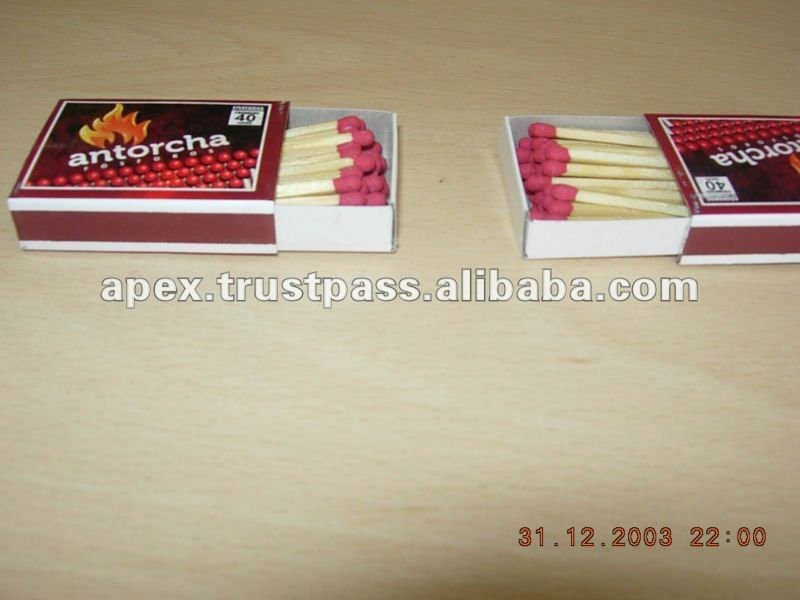 Match box safety wooden fosforos