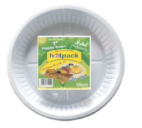 DISPOSABLE PLASTIC PLATE for Food from Dubai Manufacturer