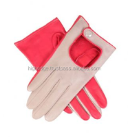 Car Driving Gloves Women Colorful Leather Winter Glove