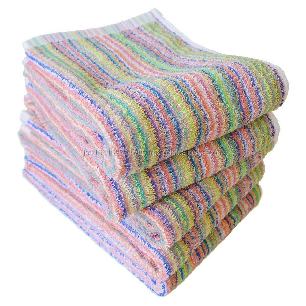 "Japanese High Grade Towel for Dog House, ""Samurai Rainbow"" / Set of Five / CYBERL, Osaka Japan"