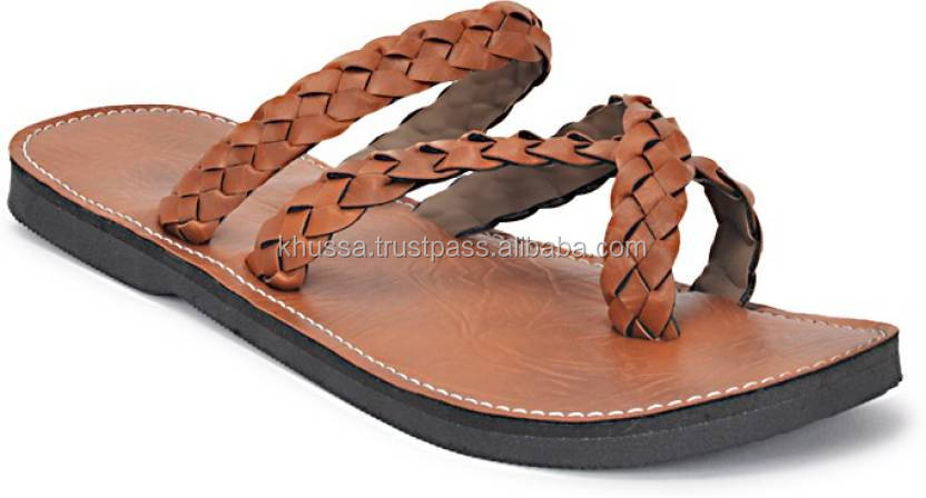 Flat Handmade Indian Crated Mojari Style Sandal For Men 2016 men slippers sandals