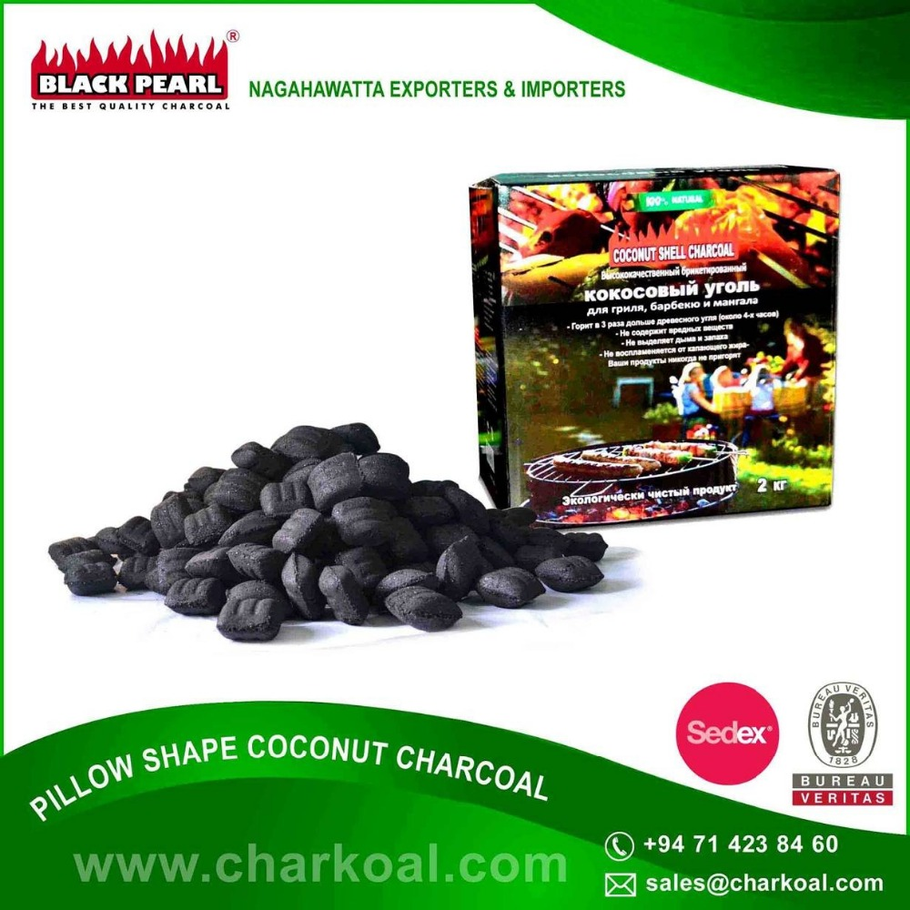 Pillow Shaped Instant Light BBQ Charcoal Briquettes for Bulk Purchase