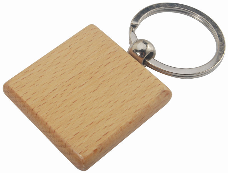 wooden blank key chain