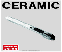 ceramic box cutter utility knife snap off retractable, world's first, made in Japan