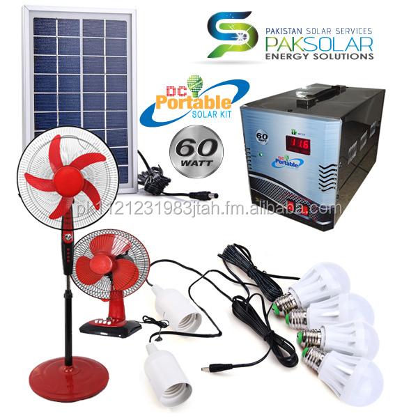60W Portable DC Solar Home Systems