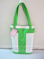 colorful shoulder bags with long handles canvas bag/cotton shopping bag /PET