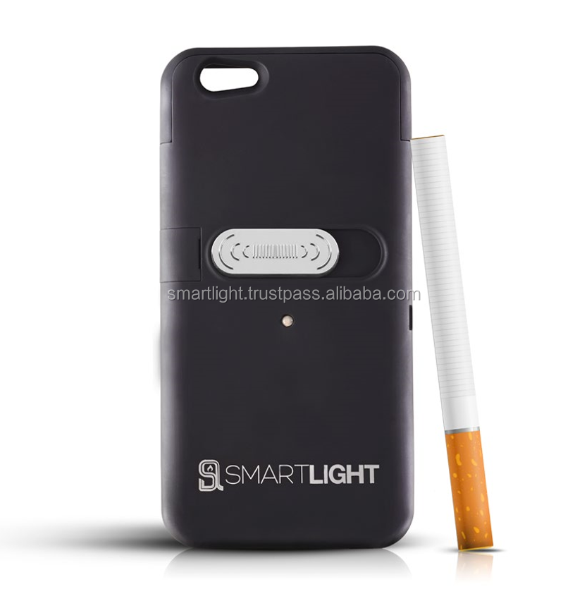 Wholesale hot selling Black mobile phone cigarette lighter cover for iPhone 6 6S