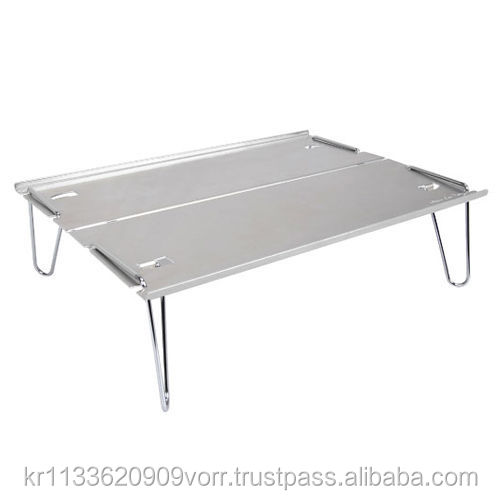 Camping Alpine Low Table Portable Aluminum Still 2 Split Outdoor Table  Folding Table