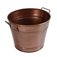 Vintage Metal Bucket Planter Copper Finish