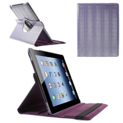 New Snake Skin Rotary Stand Smart Shell Cover for iPad 4, Smart Wake/Sleep Leather Case for iPad 3/2