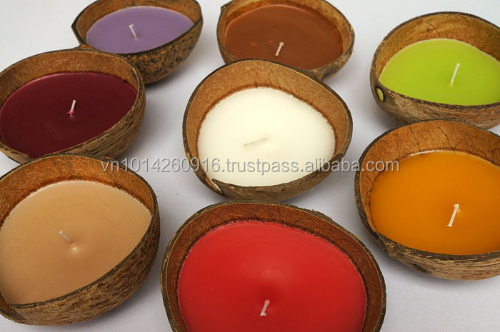 Eco-friendly coconut candle, decorative candle