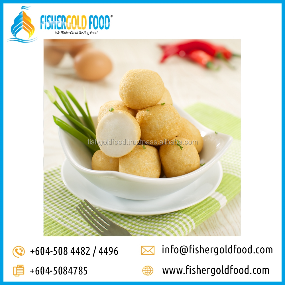 Frozen Fried Fish Ball Halal Seafood from Malaysia