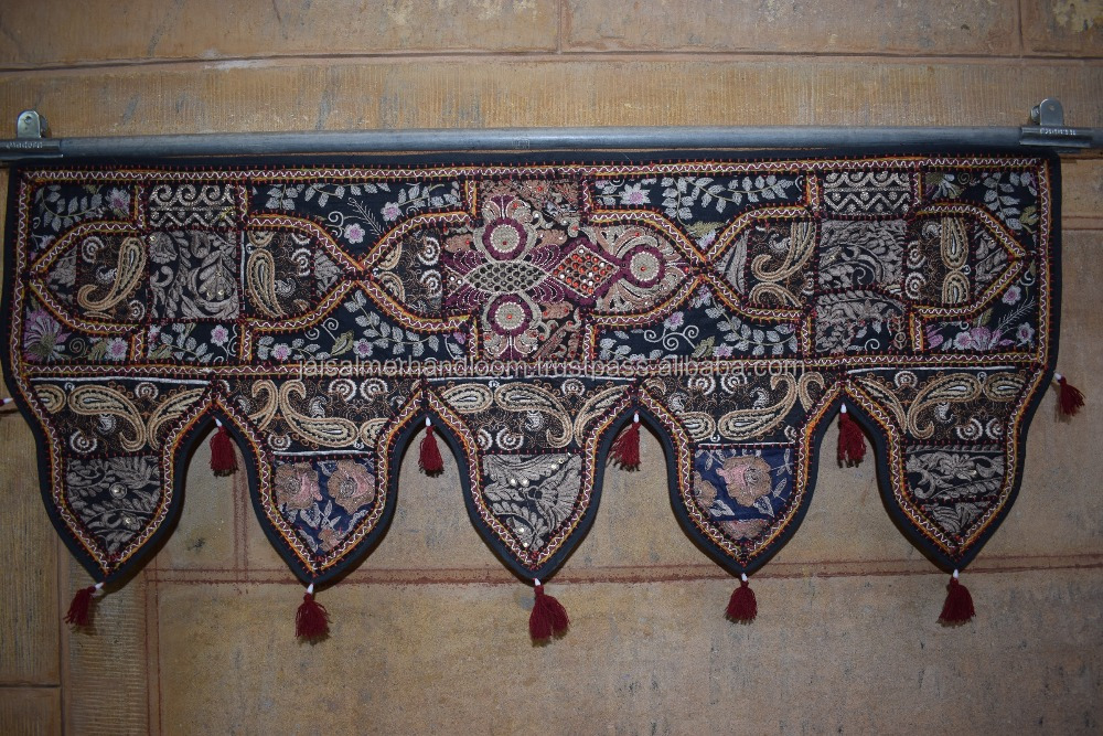 vintage designer door tapastry Patchwork Embroidered Cotton Door Hanging Toran, Indian Patchwork Door Hanging