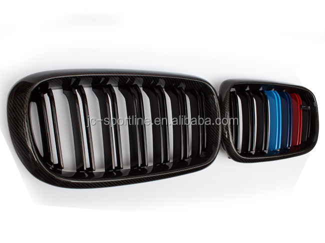 X5 X6 Carbon Fiber Tri Colors Front Grille for BMW X5 X6 E70 E71