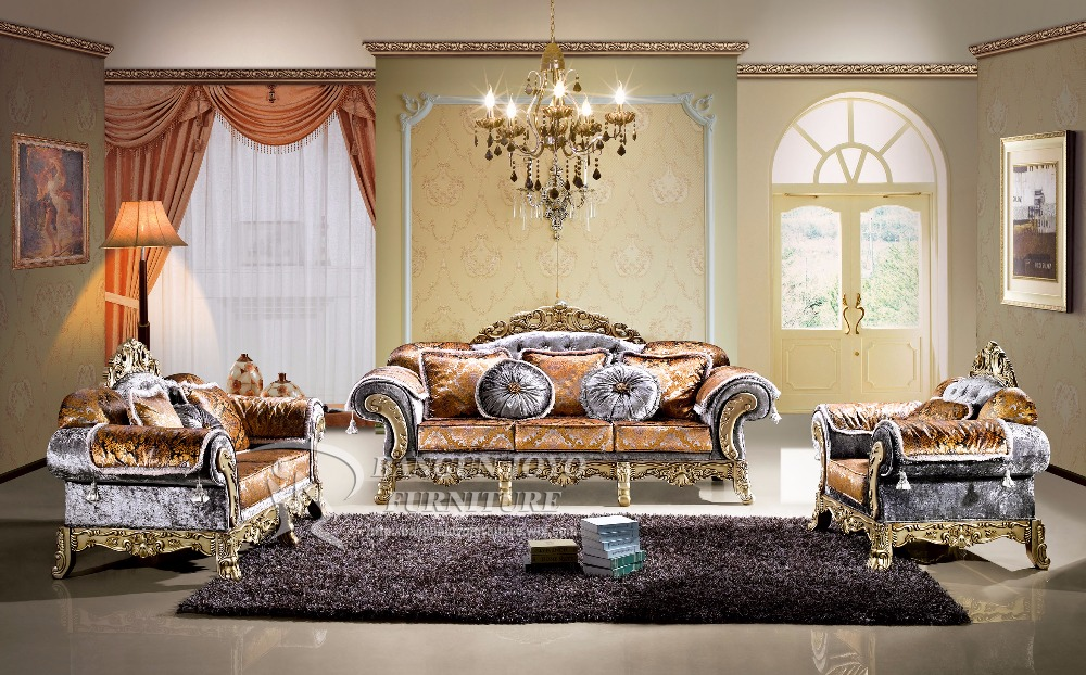 Antique high-end villa french style royal sofa set