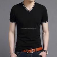 Outshourcing factory o-neck, v-neck Men's T shirt, short sleeve solid color