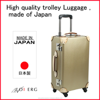 used laptops in japan trolley luggage suitcase case TSA carry luggage trunk trolley vintage leather with 4 wheels made in JAPAN