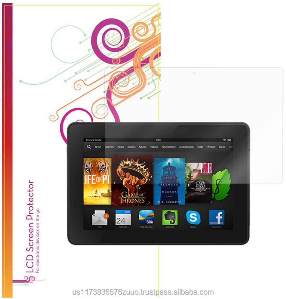 Ultra HD Plus Grade A Japanese multi-layer film with 99.8% transparency screen protector for Kindle Fire HDX 7 roocase