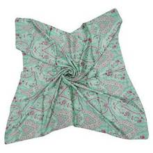 New Satin Silk Scarf Women Wrap Square Fashion Summer ScarvesSFS240A