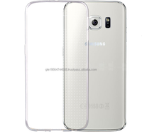 ultra thin 0.3mm Transparent Soft Gel TPU Silicone Crystal Clear Back Cover Case for samsung S6 edge