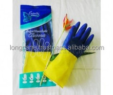 High quality high grade bi color industrial natural rubber glove for multipurpose use