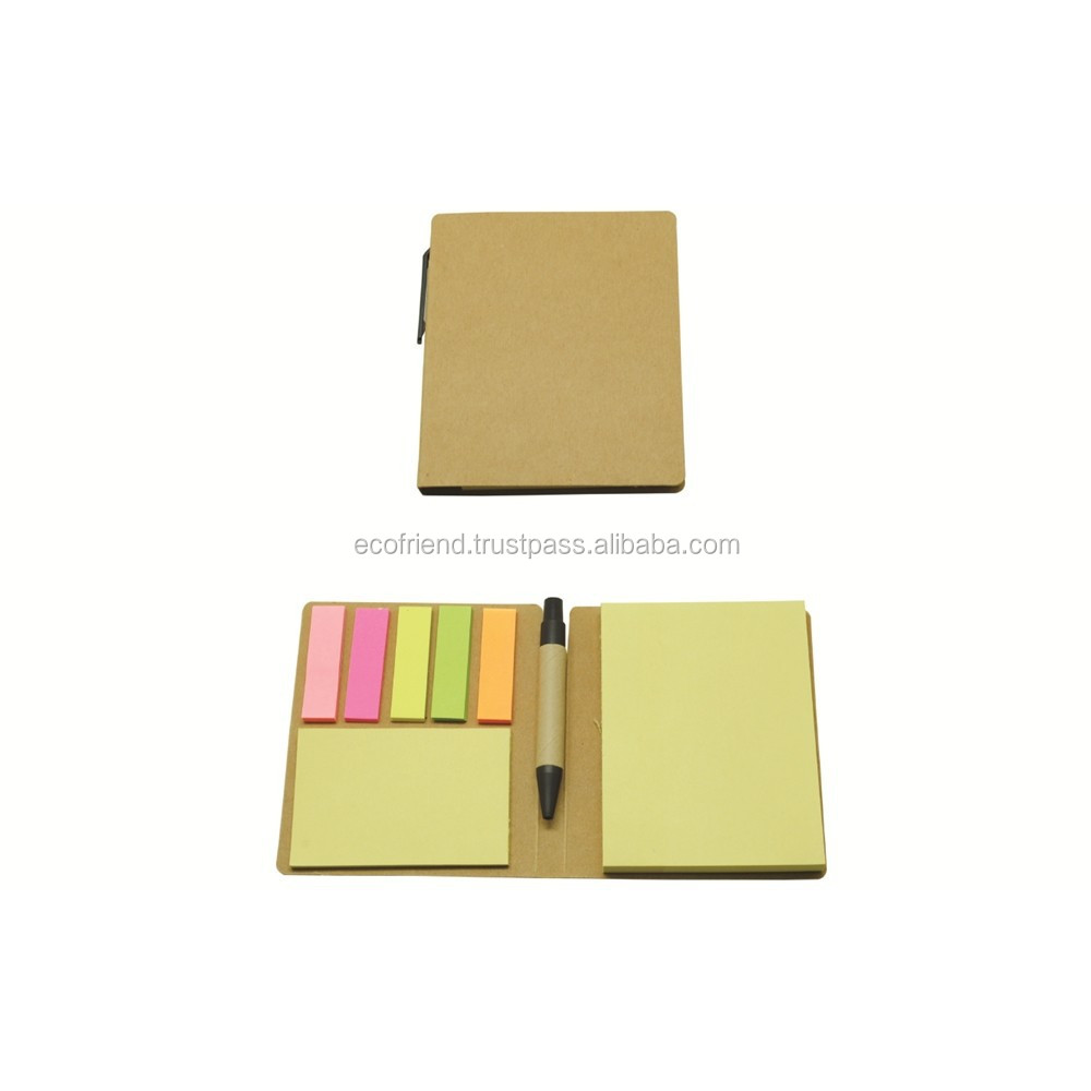 50pcs Recycle Sticky Notepad with Small Pen (S0064)