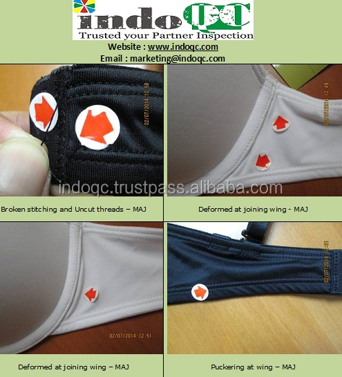Bra / underwear Inspection services company / QC services / product quality control in indonesia