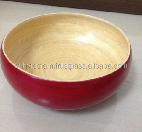 Spun Bamboo Tray - like the oval red tray in the photo