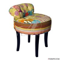 Vintage Patchwork Stool Living Room Furniture Living Room Stools & Ottomans