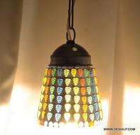 Vintage Ceiling Light Lamp Pendant Lighting Orange Glass Hanging Lamp Fixture
